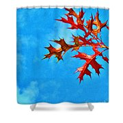Leaves Against The Sky Shower Curtain