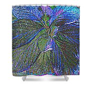 Leaves Of Blue Shower Curtain