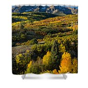 Leaves Turning At Dallas Divide Shower Curtain
