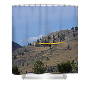 Leaving Midway  Shower Curtain
