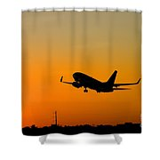 Leaving On A Jet Plane Shower Curtain