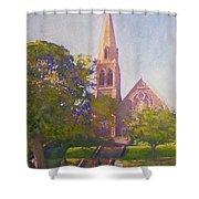 Leckie Memorial  Church  Peebles Scotland Shower Curtain