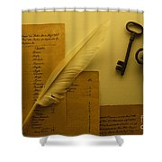 Ledgers And Keys Shower Curtain