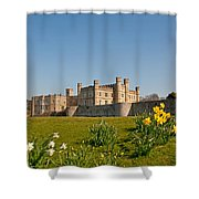 Leeds Castle In Spring 2 Shower Curtain