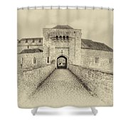 Leeds Castle Nostalgic 3 Shower Curtain