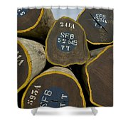 Legally Logged Trees Drc Shower Curtain