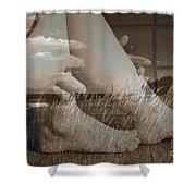 Leggy Fields Shower Curtain