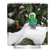Lego Mini Eskimo In Holly  Shower Curtain
