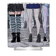 Legs Shower Curtain by Jutta Maria Pusl