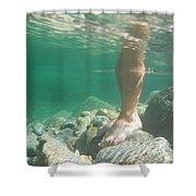 Legs Underwater Shower Curtain