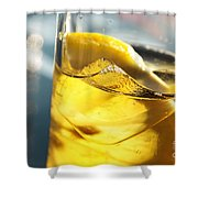 Lemon Drink Shower Curtain by Carlos Caetano