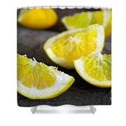 Lemon Quarters Shower Curtain