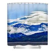 Lenticular And The Chugach Mountains Shower Curtain