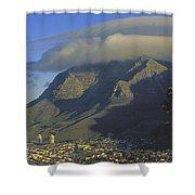 Lenticular Cloud Over Table Mountain Shower Curtain