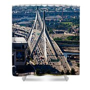 Leonard Yakim Bunker Hill Memorial Bridge Shower Curtain
