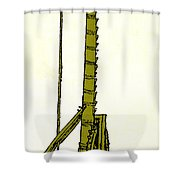 Leonardo Da Vincis Lifting Gear Shower Curtain