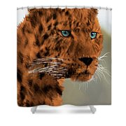 Leopard - Featured In The Group Wildlife Shower Curtain