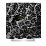 Leopard Within Shower Curtain