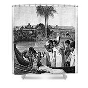 Leper, 1837 Shower Curtain