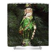Leprechaun Christmas Ornament Shower Curtain