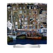 Lerwick Harbour Shetland Shower Curtain