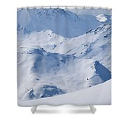 Les Arcs, France Shower Curtain