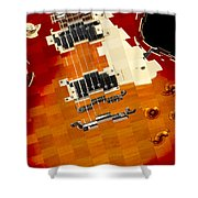 Classic Guitar Abstract Shower Curtain