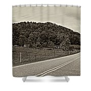 Let It Roll Monochrome Shower Curtain by Steve Harrington