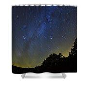 Letchworth Star Trails Shower Curtain