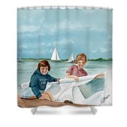 Let's Go Sailing  Shower Curtain