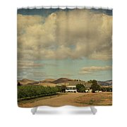 Let's Run Through The Orchard Shower Curtain