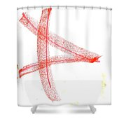 Letter 2 Shower Curtain