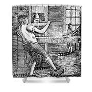 Letter Press Printer, 1807 Shower Curtain