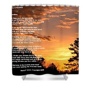 Letter To Grandma Shower Curtain