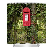 Letterbox In A Hedge Shower Curtain