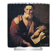 Leucippus, Ancient Greek Philosopher Shower Curtain by Science Source