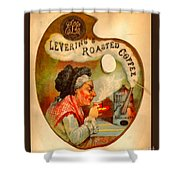 Levering's Roasted Coffee Shower Curtain