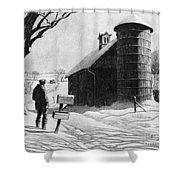 Lewis: R.f.d., 1933 Shower Curtain
