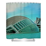 L'hemisferic - Valencia Shower Curtain by Juergen Weiss