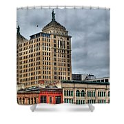 Liberty Building And Hotel Lafayette Shower Curtain
