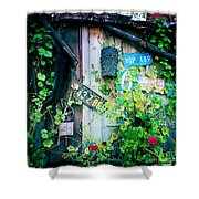 License Plate Wall Shower Curtain