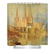 Lichfield Shower Curtain by Joseph Mallord William Turner