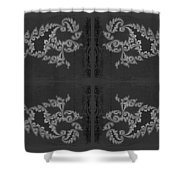 Licorice And Lace Shower Curtain