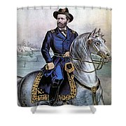 Lieutenant General Ulysses S Grant Shower Curtain by Photo Researchers