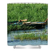 Life Along The Nile Shower Curtain