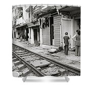 Life By The Tracks In Old Hanoi Shower Curtain