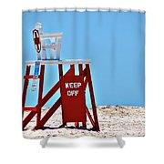 Life Guard Stand Shower Curtain