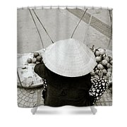 Life In Hue Shower Curtain