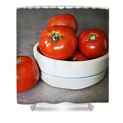 Life Is Not A Bowl Of Cherries - Life Is A Bowl Of Tomatoes Shower Curtain