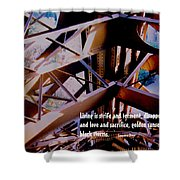 Life Is Strife Shower Curtain by Ian  MacDonald